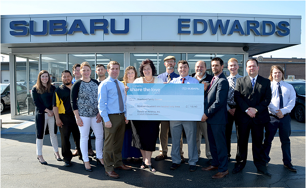 Edwards Subaru 'Shares the Love' for Children and Families in Council Bluffs