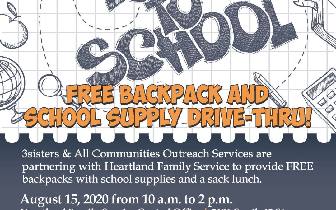 Backpack Drive-Thru event to benefit students in Omaha metro area schools