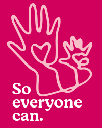 So Everyone Can - rubine red hands illustration