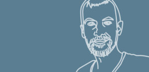 Line Illustration of Jim