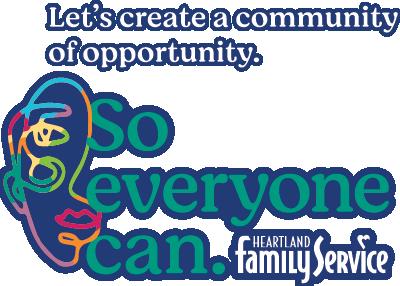 Heartland Family Service So Everyone Can logo